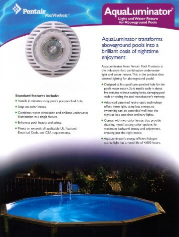 "Pool Products "" - Consolidated Pool and Spa Industries"