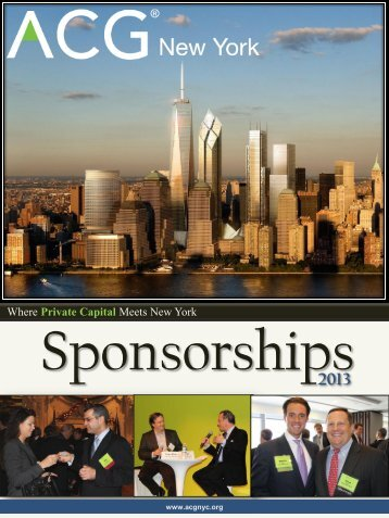 2013 Sponsorship Brochure - Association for Corporate Growth