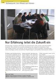 Nur Erfahrung leitet die Zukunft ein - Dr. Kraus & Partner