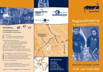 15.04. und 16.04.2005 - Umdenken - Landeszentrale für ...
