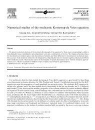 Numerical studies of the stochastic Korteweg-de ... - Brown University