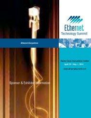 2013 Exhibitor Prospectus - Ethernet Technology Summit