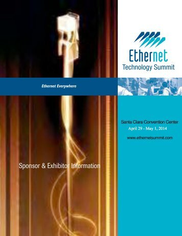 2013 Exhibitor Prospectus - Ethernet Technology Summit