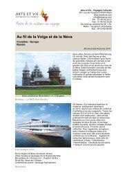 Au fil de la Volga et de la Néva - Arts et Vie