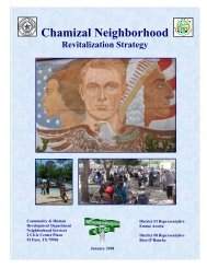 Chamizal Neighborhood Revitalization Strategy - City of El Paso
