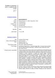 Curriculum Benericetti Mauro - Comune di Faenza