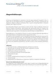 Magnetfeld-Therapie - Paracelsus Al Ronc