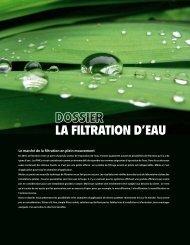la filtration d'eau - Aquarama