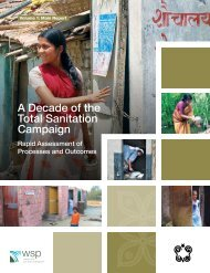 A Decade of the Total Sanitation Campaign - WSP