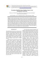 Kesepaduan Jihad Ilmu dalam Pendidikan Islam ke Arah - UKM