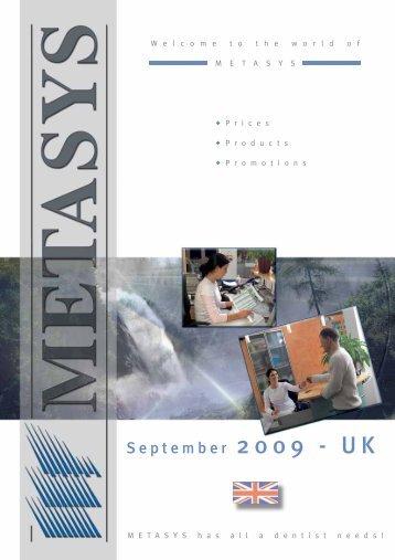 Metasys price list - PROFI - dental equipment