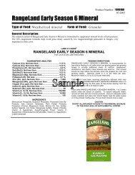 RangeLand Early Season 6 Mineral - Beeflinks