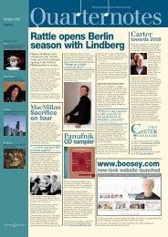 Rattle opens Berlin season with Lindberg