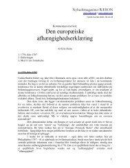 Den europæiske afhængighedserklæring - Ræson