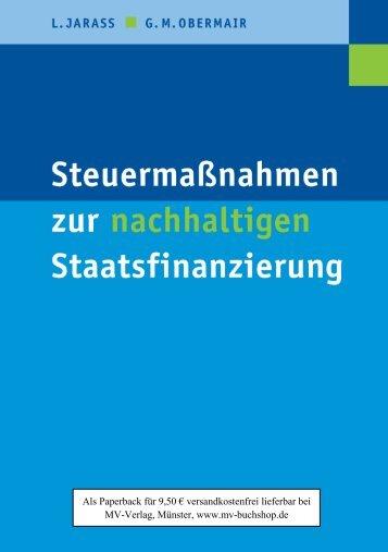 Steuermaßnahmen zur nachhaltigen Staatsfinanzierung, MV-Verlag ...