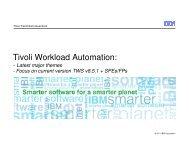 Tivoli Workload Automation v.8.5.1 SPE/FP - Nordic TWS conference