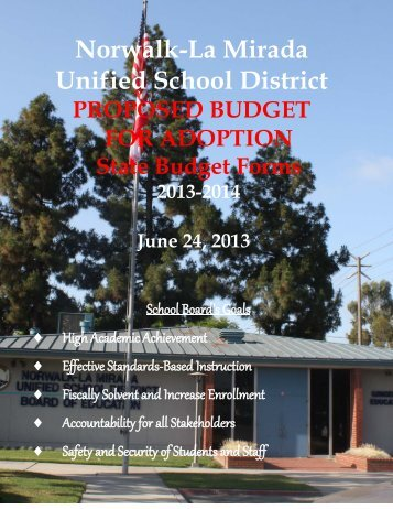 Proposed Budget for Adoption 2013-14 - Norwalk-La Mirada Unified ...