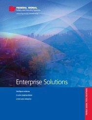 Enterprise Brochure - Federal Signal Corporation