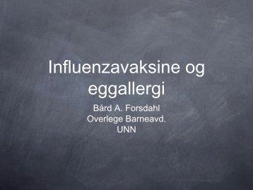 Vaksinasjon ved allergi (egg)