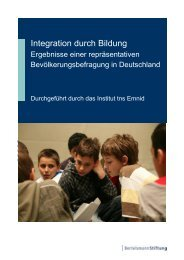 Integration durch Bildung, Seite 5 - Bertelsmann Stiftung