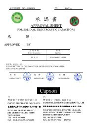 承 認 書 Capxon - Ropla Elektronik Sp. z oo