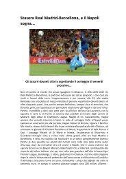 Stasera Real Madrid-‐Barcellona, e il Napoli ... - Napoli2000.com