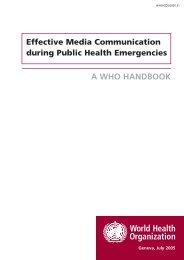 Effective Media Communication during Public Health Emergencies