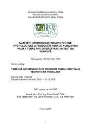 zajištění harmonizace krajinotvorné, hydrologické a produkční ...