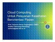 Cloud Computing Untuk Pelayanan Kesehatan Berorientasi Pasien
