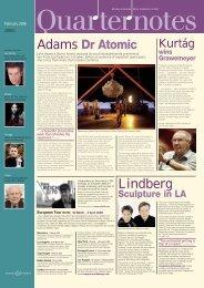 Adams Dr Atomic Lindberg