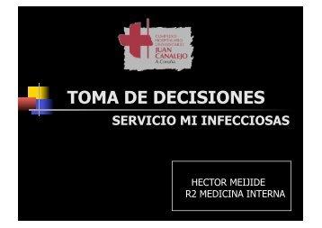 """meningitis linfocitaria por fármacos. """"toma de decisiones"""" hector ..."""