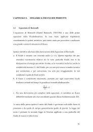 CAPITOLO 3. DINAMICA DEI FLUIDI PERFETTI - Dimeca