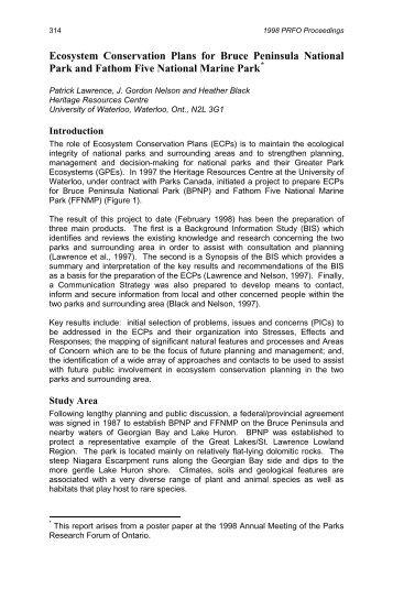 PRFO-1998-Proceedings (p314-322) Lawrence, Nelson ... - CASIOPA