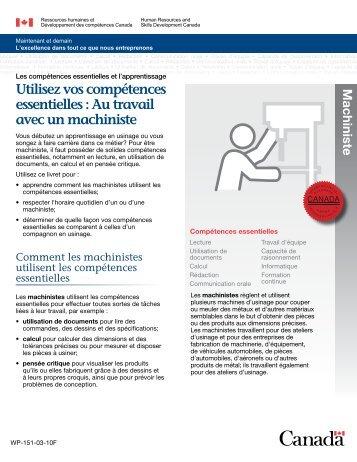 Utilisez vos compétences essentielles : Au travail avec un machiniste