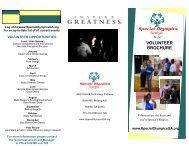 VOLUNTEER BROCHURE - Special Olympics Georgia