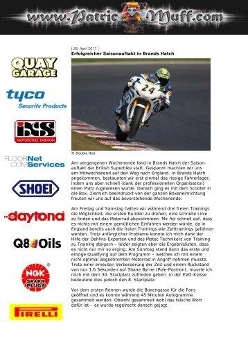Erfolgreicher Saisonauftakt in Brands Hatch Am vergangenen ...