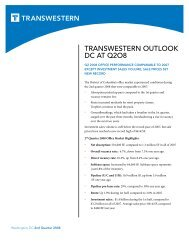 TRANSWESTERN OUTLOOK DC AT Q2O8