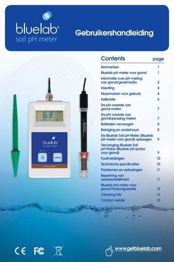 soil pH meter Gebruikershandleiding - Growth Technology