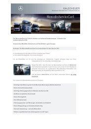 MercedesService Card finden Sie hier - Kalscheuer Mercedes-Benz