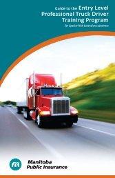 Entry Level Professional Truck Driver Training Program