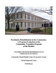 Psychiatric Rehabilitation in the Community: A ... - Psychology
