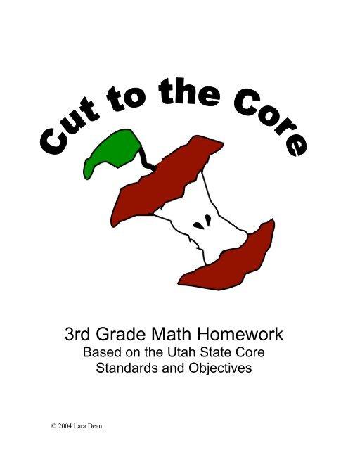 3rd Grade Math Homework - Salt Lake City School District