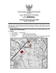 1 LAPORAN HARIAN PUSDALOPS BNPB Selasa, 31 Maret 2009 1 2