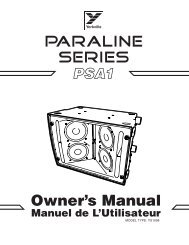 Owner's Manual - Pro Audio and Lighting