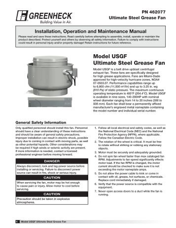 Grease grabber triple play greenheck model usgf ultimate steel grease fan greenheck swarovskicordoba Images