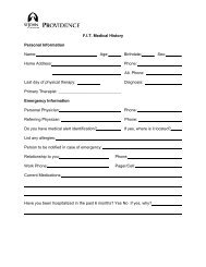 F.I.T. Medical History Personal Information Name: Age: Birthdate ...