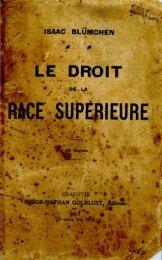 Le droit de la race superieure