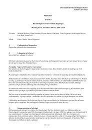 Husudvalgsmøde 5. november 2007 - Institutleder til klinisk medicin
