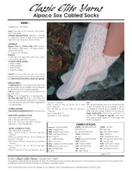 Alpaca Sox Cabled Socks pattern. - Classic Elite Yarns