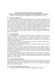 REGOLAMENTO PER L'USO DEGLI SPAZI APERTI - Comune di ...